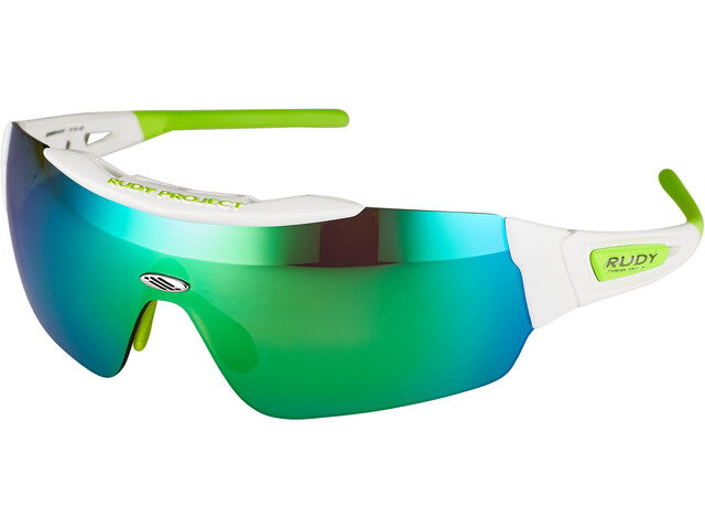 Rudy Project Ergomask Lunettes, white gloss/multilaser green